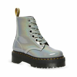 Dr Martens Vegan Molly Rainbow Boot Silver