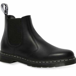 Dr Martens 2976 White Stitch Chelsea Boot Black