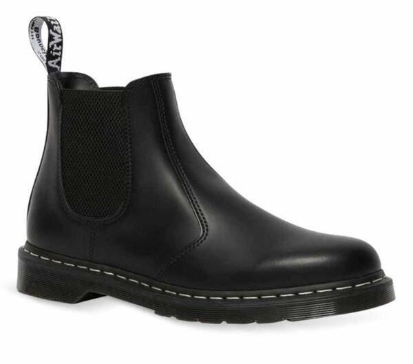 Dr Martens 2976 White Stitch Chelsea Boot Black