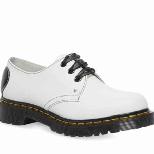 Dr Martens 1461 Hearts Smooth White Smooth & Black Patent Lamper