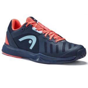 Head Sprint Team 3.0 Womens Tennis Shoes - Dress Blue/Coral