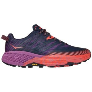 Hoka One One Speedgoat 4 - Womens Trail Running Shoes - Outer Space/Hot Coral