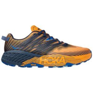 Hoka One One Speedgoat 4 - Mens Trail Running Shoes - Saffron/Black Iris
