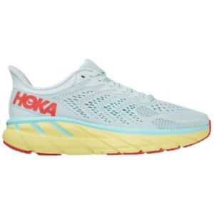 Hoka One One Clifton 7 - Womens Running Shoes - Morning Mist/Hot Coral