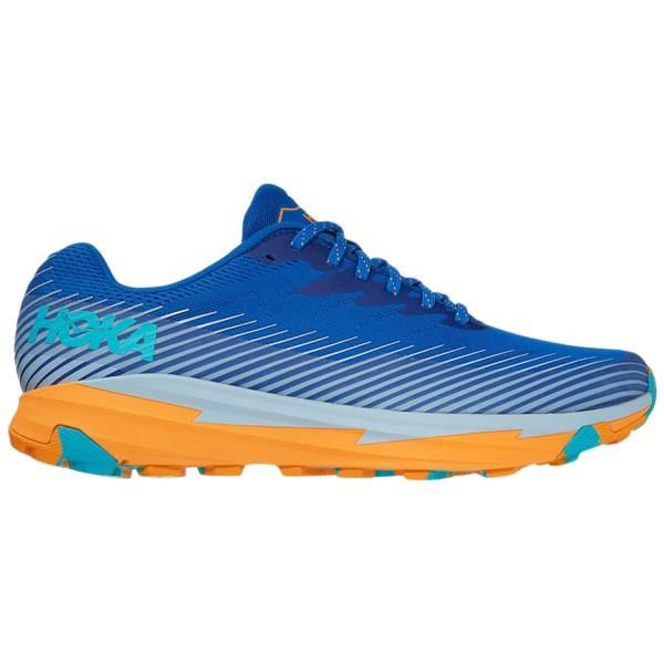 Hoka One One Torrent 2 - Mens Trail Running Shoes - Turkish Sea/Saffron