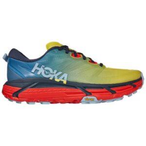 Hoka One One Mafate Speed 3 - Mens Trail Running Shoes - Provincial Blue/Fiesta