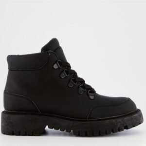 ITNO Womens Channel Boot Black Leather