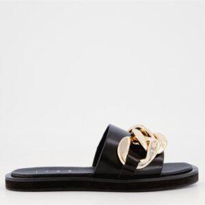ITNO Womens Dreams Sandal Black Leather