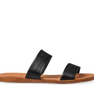 ITNO Womens Faith Sandal Black Natural Leather
