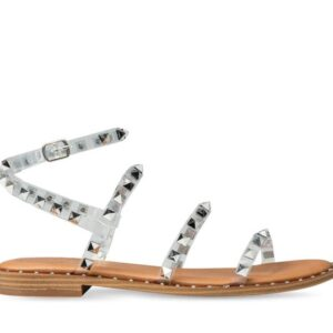 ITNO Womens Monika Studded Sandal Clear Natural