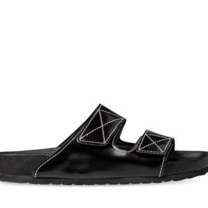 ITNO Womens Toni Sandal Black Leather