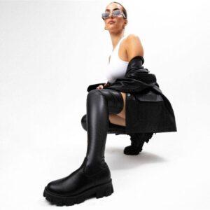 ITNO Womens Lexi Boot Stretch Black