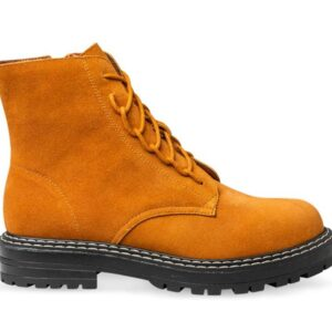 ITNO Womens Lugg Boot Tan Suede