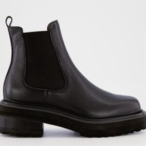 ITNO Womens Luna Chelsea Boot Black Leather