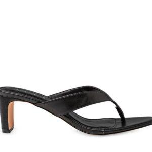 ITNO Womens Naomi Heel Black Leather