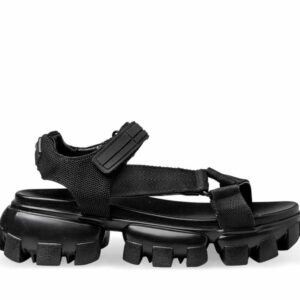 ITNO Womens Bubble Sandal Black Black