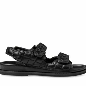 ITNO Womens Giselle Black Padded Leather