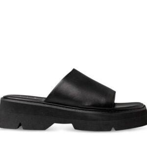 ITNO Womens Mya Mule Black Black Leather