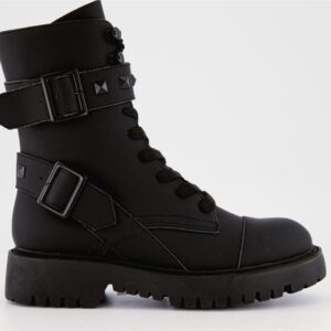 ITNO Womens Trooper Boot Black Leather