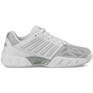 K-Swiss Bigshot Light 3 Womens Tennis Shoes - White/Silver