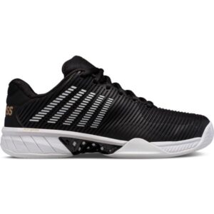 K-Swiss Hypercourt Express 2 Mens Tennis Shoes - Black/Gold/White