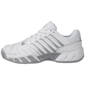 K-Swiss Bigshot Light 4 Womens Tennis Shoes - White/High-Rise/Silver