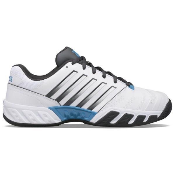 K-Swiss Bigshot Light 4 Mens Tennis Shoes - White/Dark Shadow/Swedish Blue