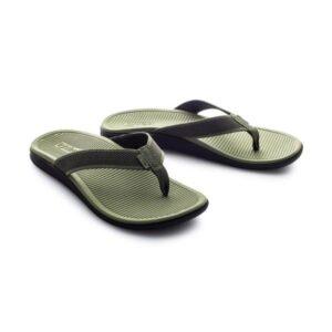 Lightfeet Refresh Unisex Recovery Thongs - Khaki/Black