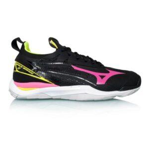Mizuno Wave Mirage 2 - Womens Netball Shoes - Black/Pink Glow/Yellow