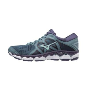 Mizuno Wave Sky 2 - Womens Running Shoes - Blue Mirage/Brook Green/Purple