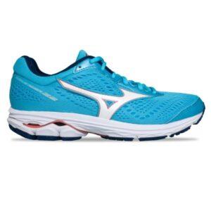 Mizuno Wave Rider 22 - Womens Running Shoes - Blue Atoll/White/Peach