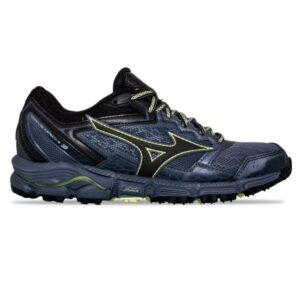 Mizuno Wave Daichi 3 - Womens Trail Running Shoes - Folkstone Grey/Black/Sunny Lime