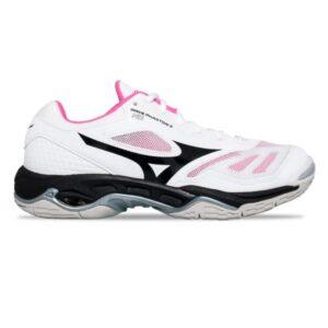 Mizuno Wave Phantom 2 - Womens Netball Shoes - White/Black/Pink Glow