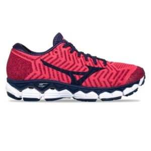 Mizuno WaveKnit Sky S1 - Womens Running Shoes - Azalea/Evening Blue