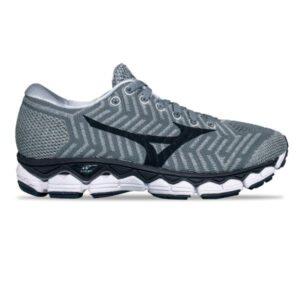 Mizuno WaveKnit Sky S1 - Womens Running Shoes - Grey/Ombre Blue