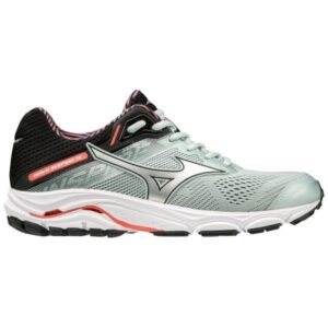 Mizuno Wave Inspire 15 - Womens Running Shoes - Sky Gray/Fiery Coral