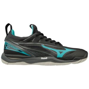 Mizuno Wave Mirage 2.1 - Womens Netball Shoes - Black/Blue Curacao