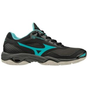 Mizuno Wave Phantom 2 - Womens Netball Shoes - Black/Blue Curacao