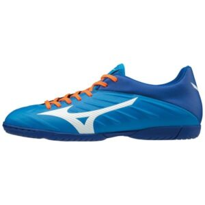 Mizuno Rebula 2 V3 - Mens Indoor Soccer/Futsal Shoes - Brilliant Blue/White/Orange
