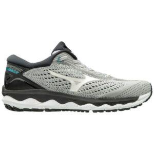 Mizuno Wave Sky 3 - Mens Running Shoes - Glacier Grey/White