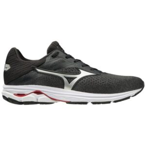 Mizuno Wave Rider 23 - Mens Running Shoes - Graphite/Silver
