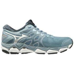 Mizuno Wave Horizon 3 - Womens Running Shoes - Citadel/Silver/Persimmon