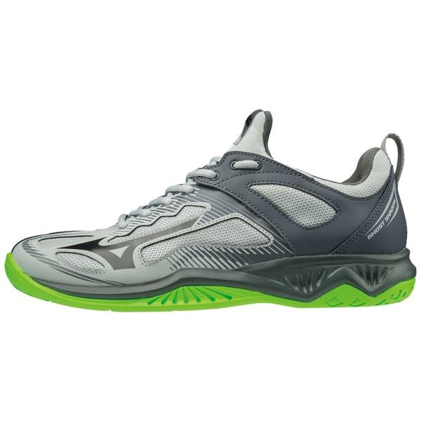 Mizuno Ghost Shadow - Mens Indoor Court Shoes - High Rise/Black/Green Gecko