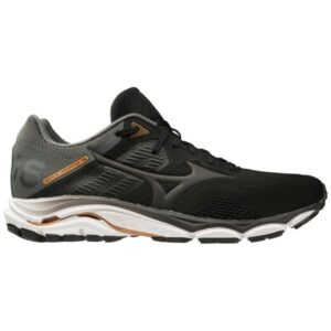 Mizuno Wave Inspire 16 - Mens Running Shoes - Black/Dark Shadow