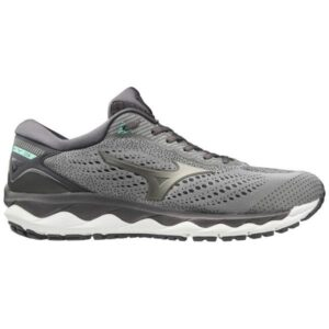 Mizuno Wave Sky 3 - Mens Running Shoes - Frost Grey/Ice Green