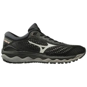 Mizuno Wave Sky 3 - Womens Running Shoes - Black/Glacier Grey/Champagne
