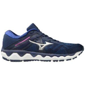 Mizuno Wave Horizon 4 - Womens Running Shoes - Medieval Blue/Silver