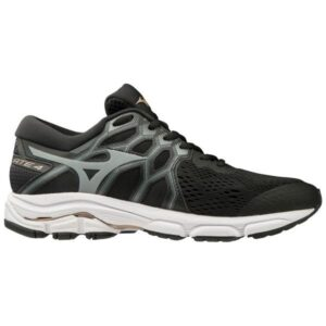 Mizuno Wave Equate 4 - Womens Running Shoes - Black/Monument/Champagne