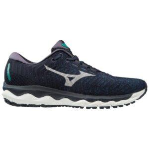 Mizuno Wave Sky Waveknit 3 - Mens Running Shoes - True Blue/Nimbus Cloud
