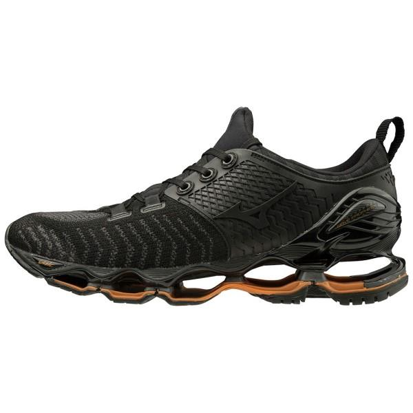 Mizuno Wave Prophecy Waveknit - Unisex Running Shoes - Dark Shadow/Black